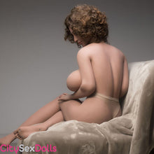 Load image into Gallery viewer, Sexy back of Boobilicious Sex Doll with Curly Hairs