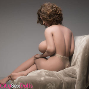 Sexy back of Boobilicious Sex Doll with Curly Hairs