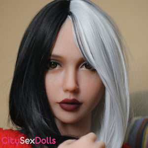 head 233 on Curvy Mini TPE Sex Doll Torso by wm dolls