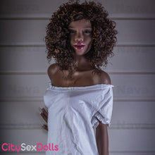"Load image into Gallery viewer, 168cm (5ft 6"") A-Cup African Brunette Sex Doll with Thin Butt - Ramona"