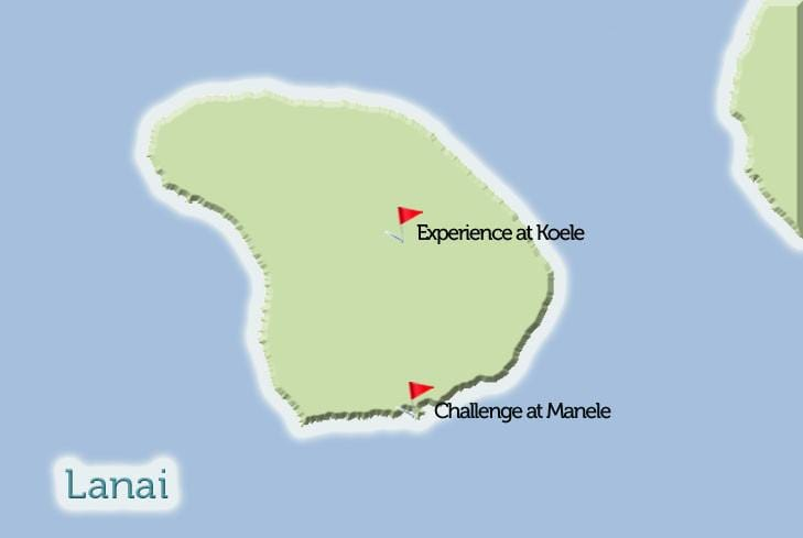 Lanai Golf Courses Map View