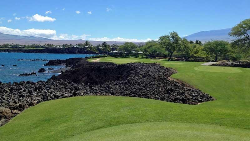 Mauna Lani  teebox on the beautiful 7th hole