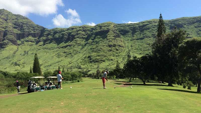 8th Tee Makaha Valley Golf Oahu