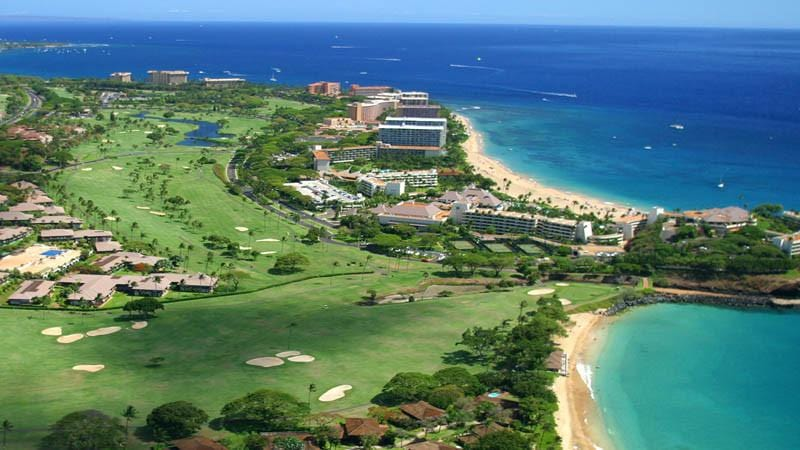 Kaanapali Royal aerial view of signature 5th hole