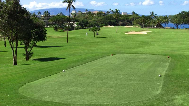 Kaanapali Royal tee box with ocean views