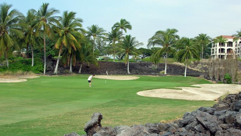 Waikoloa Beach 12th hole with Hawaii Tee Times staffer