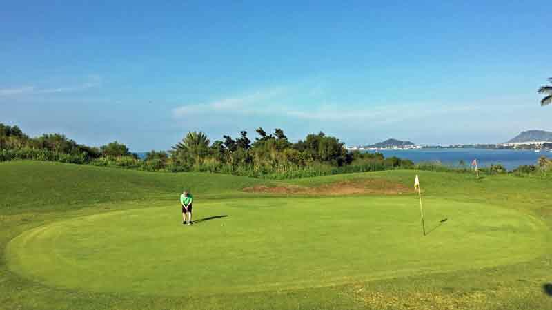 Bay View 14th green with beautiful ocean views