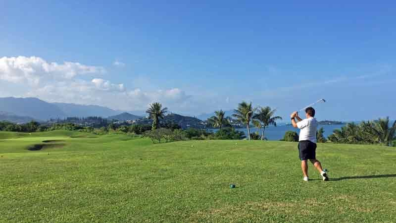 Teeing it up at Bay View on Oahu