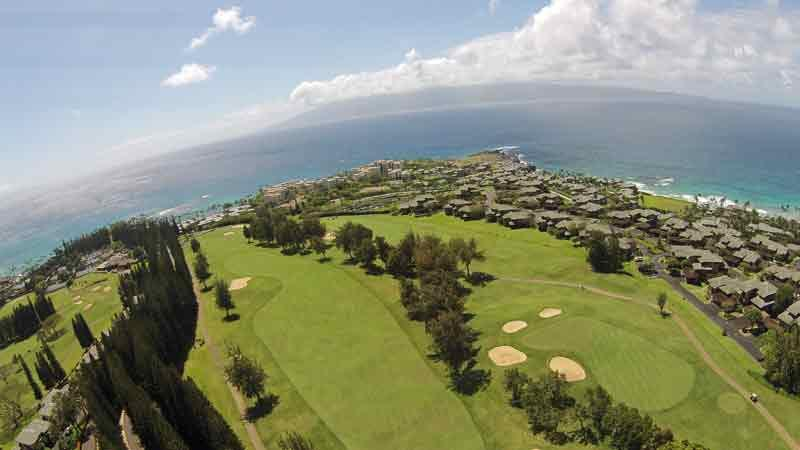 Kapalua Bay 1st and 9th holes Maui Hawaii