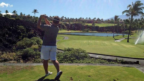 Waikoloa Beach Golf Course Tee Shot 17th Hole Hawaii Tee Times