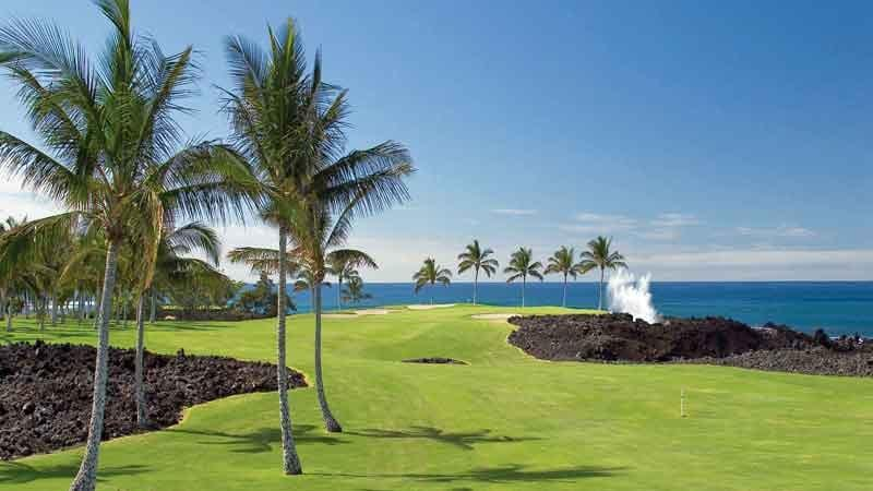 Ocean meets Lava at Waikoloa Beach Course