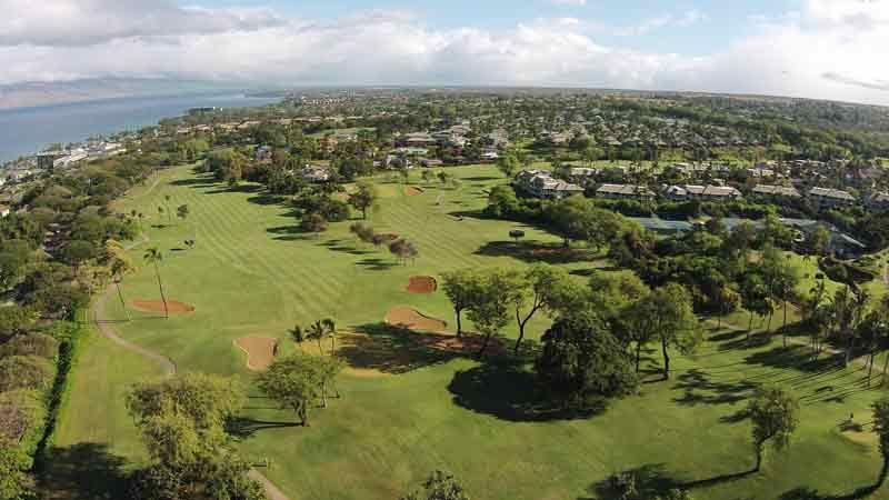 Wailea Blue Golf Course Maui Aerial View Hawaii Tee Times