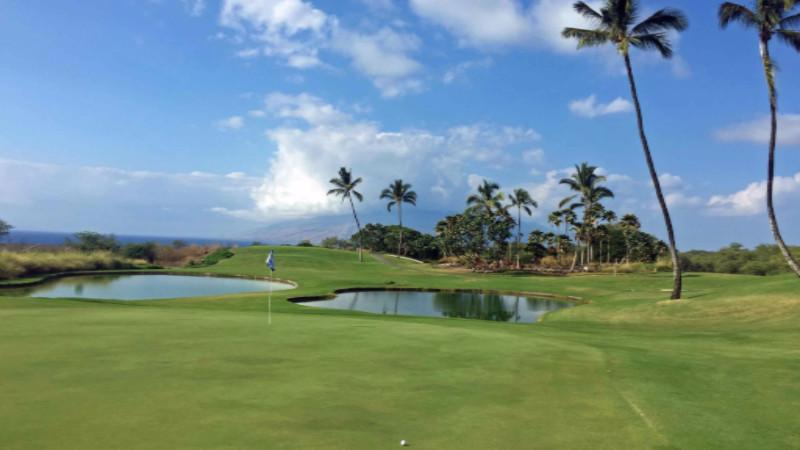 Wailea Old Blue 4th Green