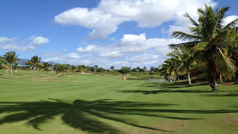 Coral Creek Oahu second shot on great par 4 12th hole