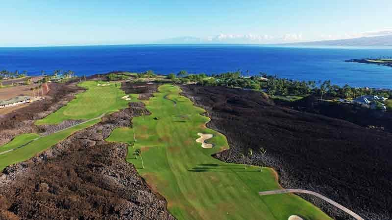 Mauna Lani Lava between holes 6 and 8