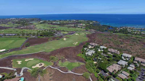 Mauna Lani Aerial View from Drone Hawaii Tee Times