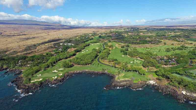 Mauna Kea area shot from ocean Hawaii Tee Times