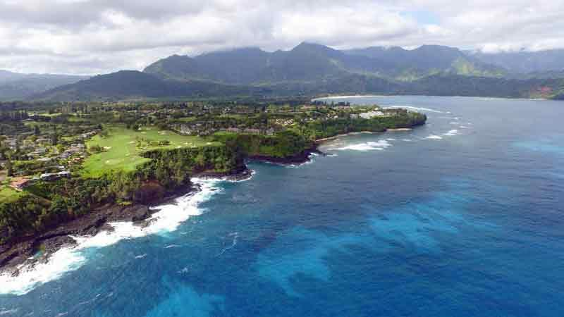 Princeville Makai Amazing holes 6-7  with Aerials by Hawaii Tee Times
