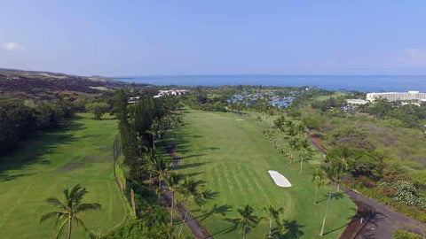 Kona Country Club opening hole June 2015 HTT DRONE