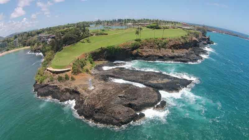 Hokuala Drone View 16th Hawaii Tee Times