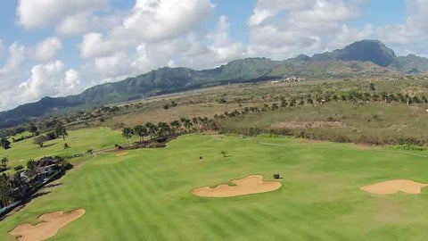 Kiahuna Golf Course aerial shot of front nine holes
