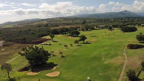 Kiahuna Golf Club aerial view of back nine holes