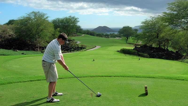 Hawaii Tee Times Staff teeing up at Wailea Emerald