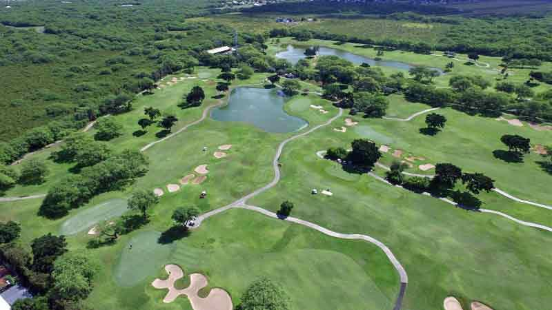Holes 4 -15 at Ewa Beach Golf on island of Oahu