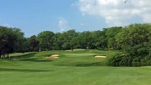 Fairway view of the 7th and 11th greens at Ewa Beach