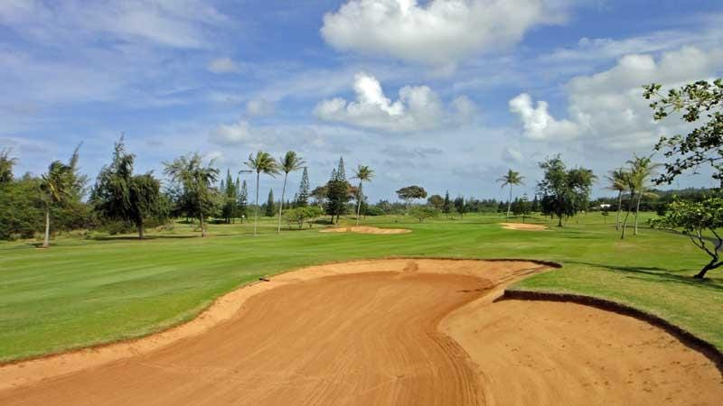 View of the 12th fairway at Turtle Bay Fazio