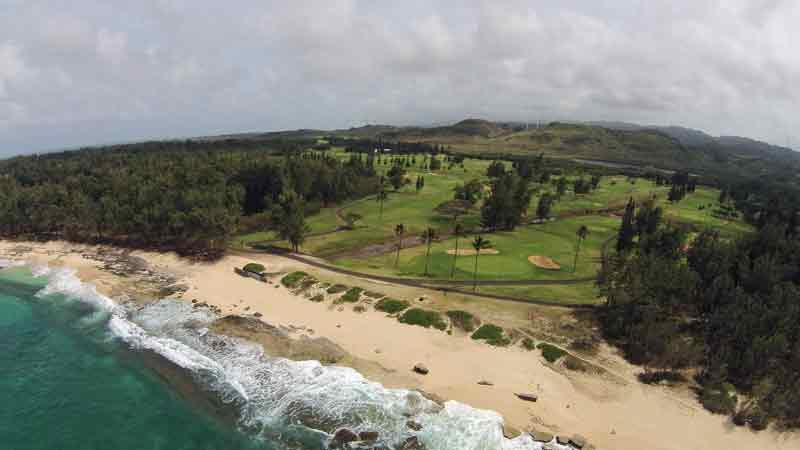 Turtle Bay Fazio Holes 11-12 from Ocean