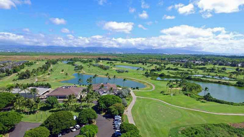 Beautiful Hawaii Prince Golf Clubhouse and course
