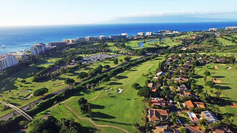 Aerial Drone view of Kaanapali Kai and hotels