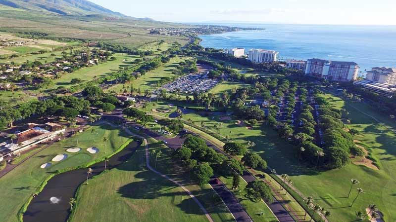Kaanapali Clubhouse and views towards Lahaina Town