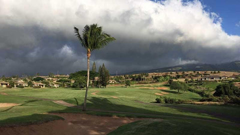 Kaanapali Kai 7th hole looking towards West Maui Mountains