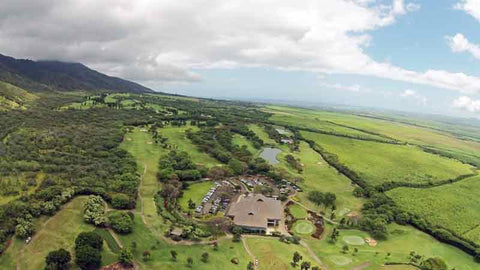 Front Nine and Clubhouse of Kahili Golf Course Maui