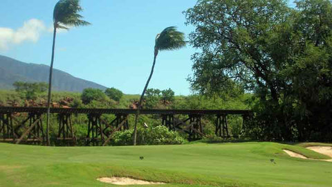 Kaanapali Kai rail hole Hawaii Teetimes, look for the train