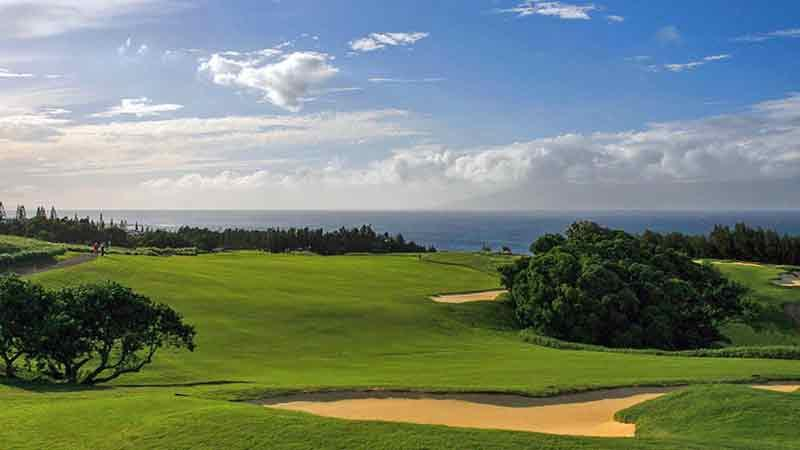 Kapalua Plantation Hole 13 view,  Hawaii Tee Times