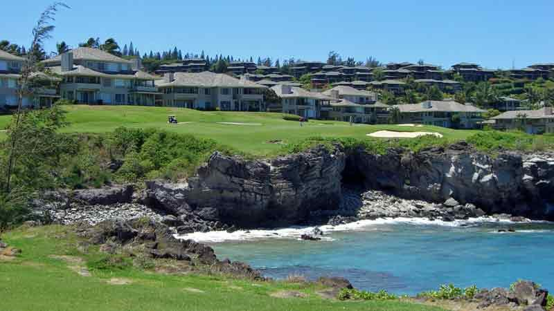 Teeing off at Kapalua Bay 5th hole with Hawaii Tee Times