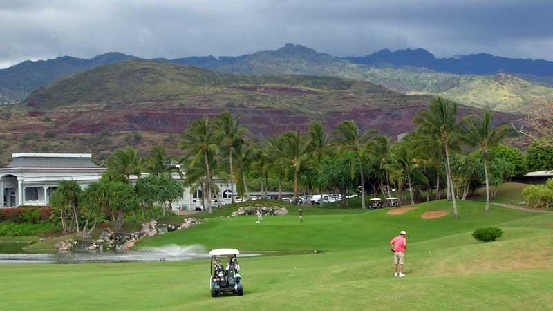 Kapolei 18th fairway and green