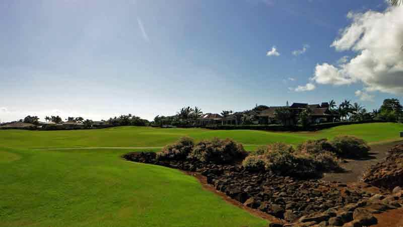 Kiahuna Golf Club has plenty of Lava throughout the golf course