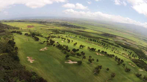 Aerial photo of back nine holes at King Kamehameha
