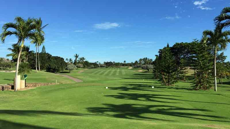Opening Tee Shot at Ko Olina on Oahu Hawaii