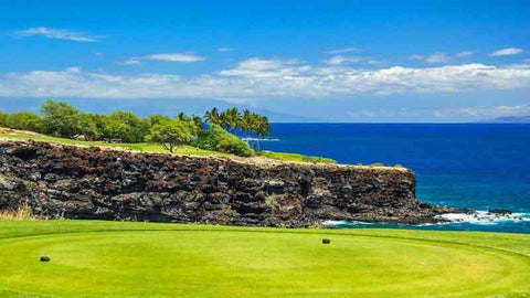 Manele Tee Box on island of Lanai  Hawaii Tee Times