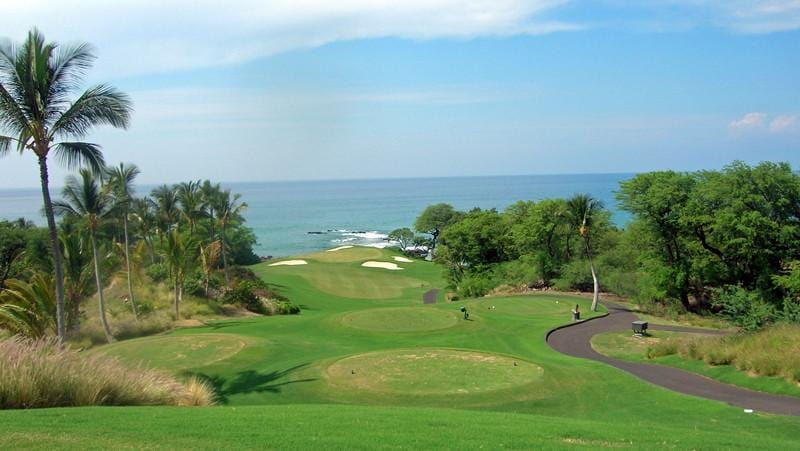 Mauna Kea beautiful 11th hole that plays to the ocean