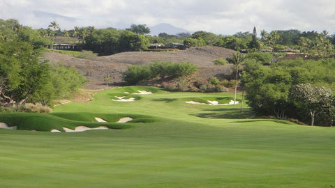 Mauna Kea approach shot to the 8th hole
