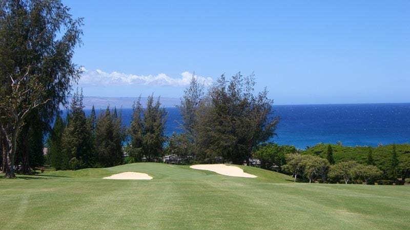 Kapalua Bay 9th green and amazing ocean view
