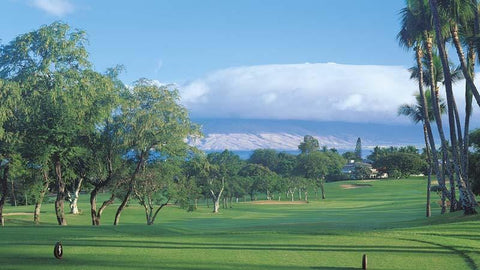 Wailea Old Blue Course with great views of West Maui Mountains
