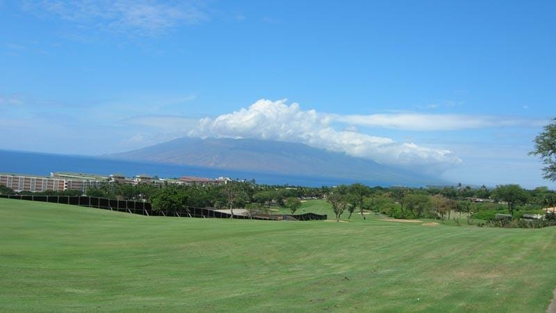 Wailea Old Blue Golf Club looking out to the islands
