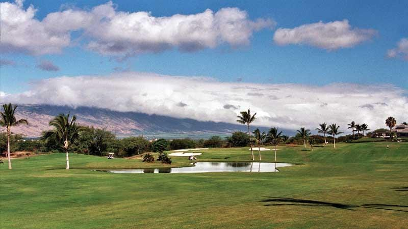 Elleair Golf Course Maui front nine and clubhouse